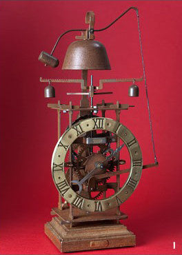 "Medieval Mechanical Brass & Iron Clock - ""Completorium"""
