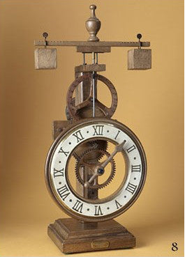 "Gothic Mechanical Wood Clock - ""Laudes"""