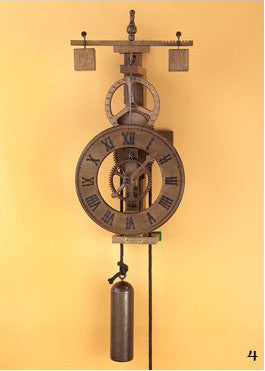 "Medieval Mechanical Wood Wall Clock - ""Matutinus"""