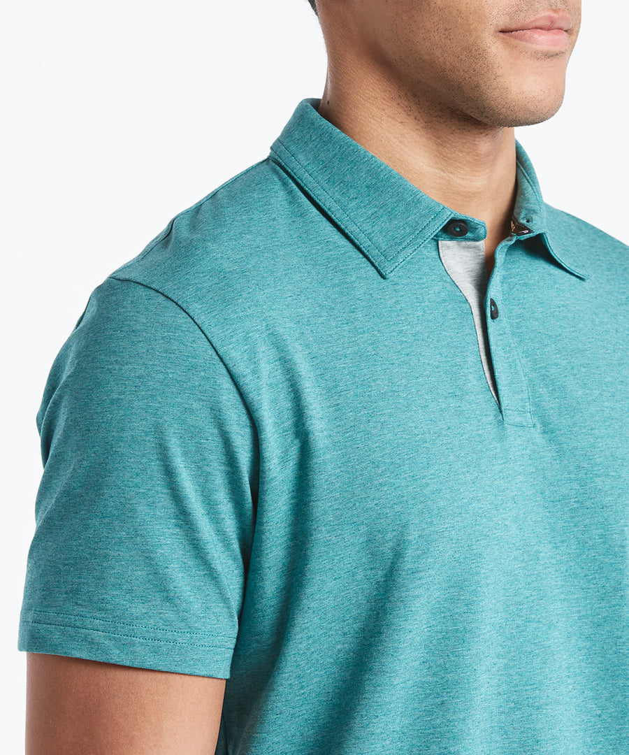 Go-To Polo | Men's Heather Teal