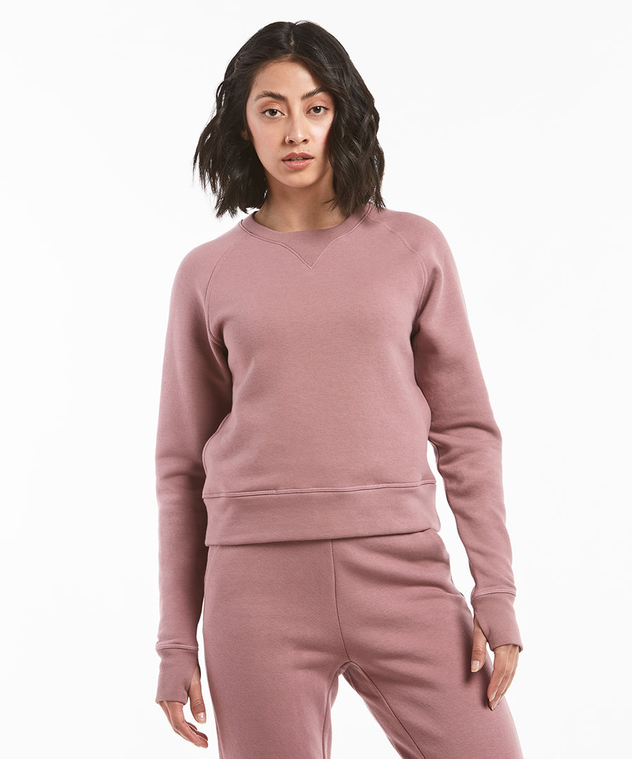 Luxe Fleece Crew | Women's Mauve