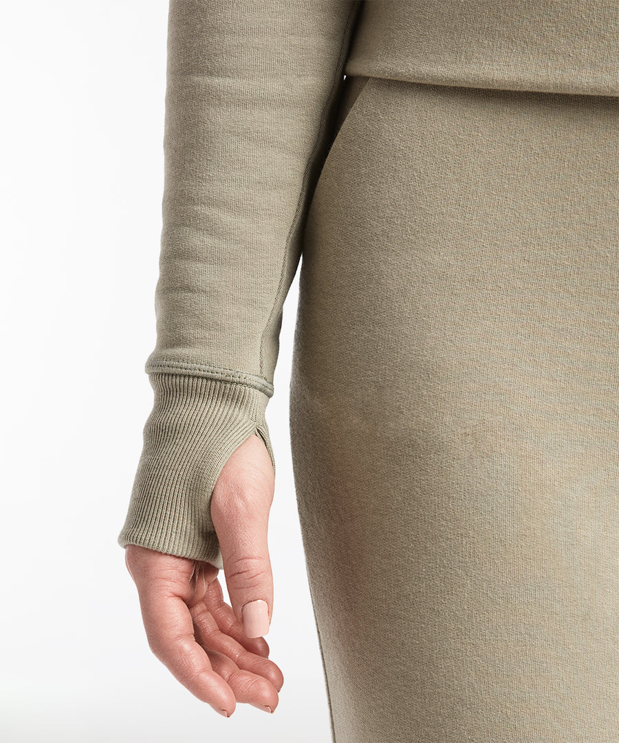 Luxe Fleece Crew | Women's Sage