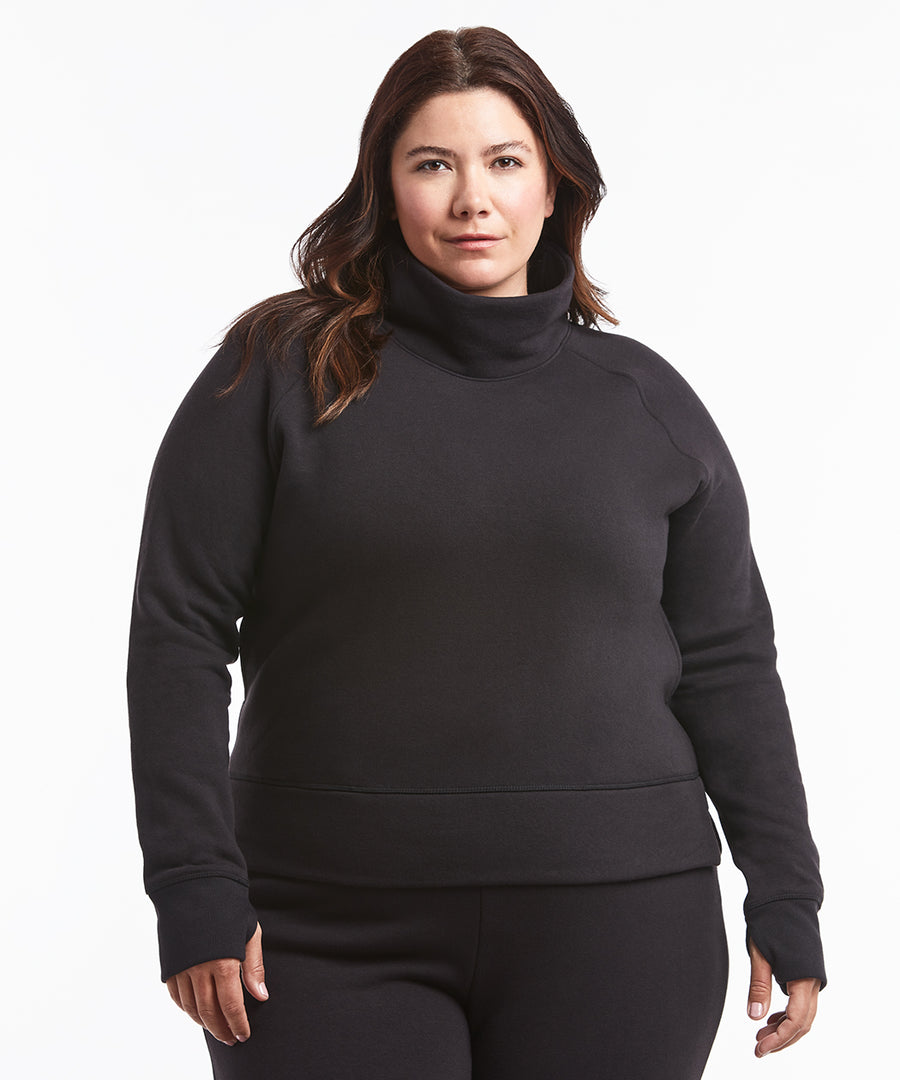 Luxe Fleece Pullover | Women's Black