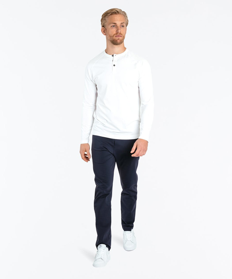 Go-To Long Sleeve Henley | Men's White
