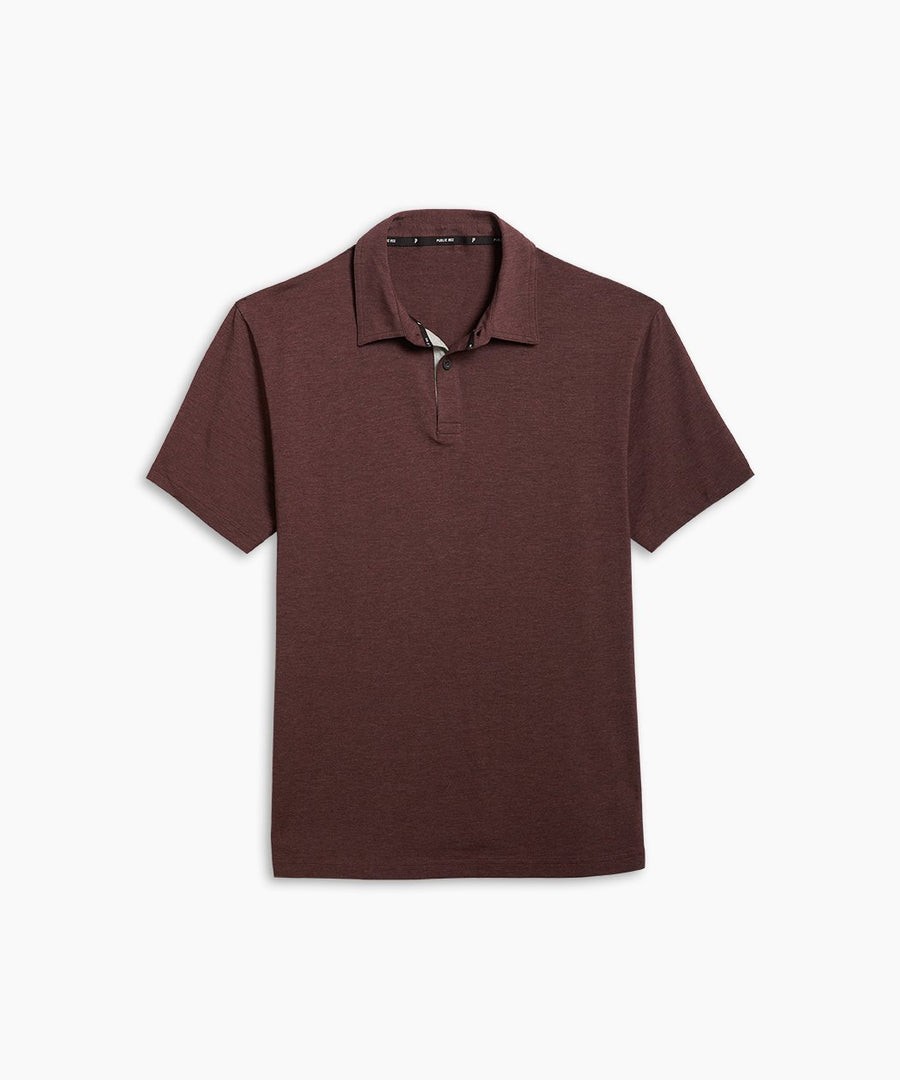 Go-To Polo | Men's Heather Burgundy