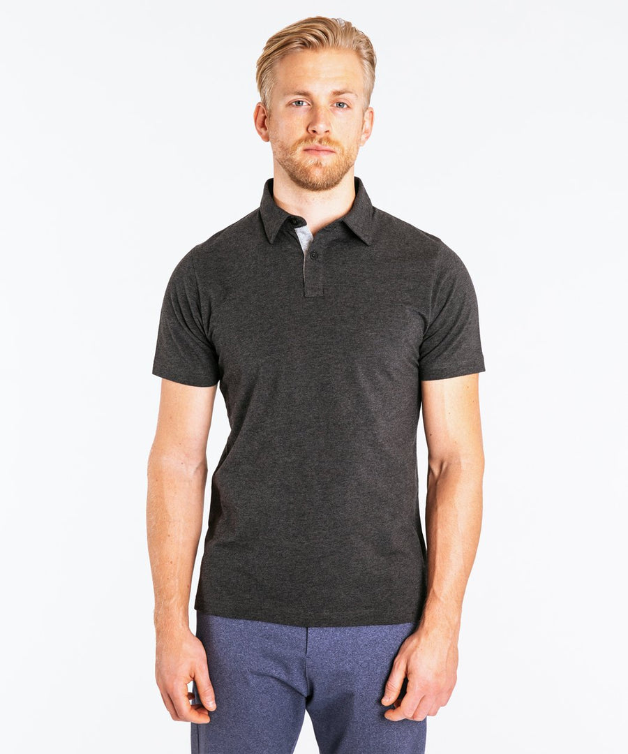 Go-To Polo | Men's Heather Charcoal