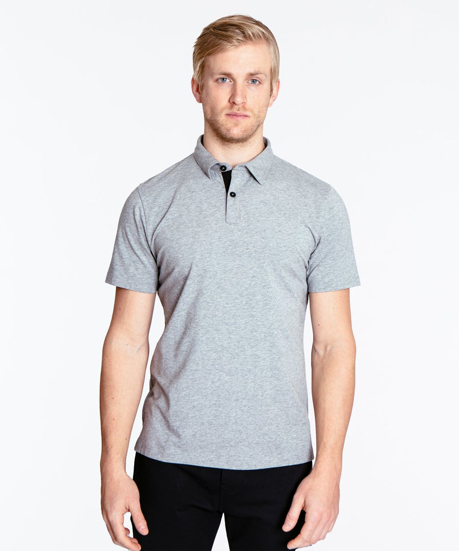 Go-To Polo | Men's Heather Silver Spoon