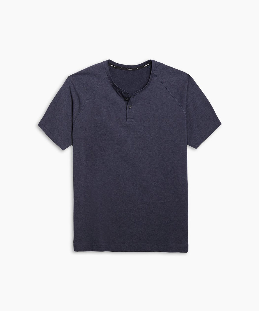 Go-To Short Sleeve Henley | Men's Heather Navy