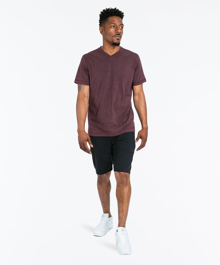 Go-To V | Men's Heather Burgundy