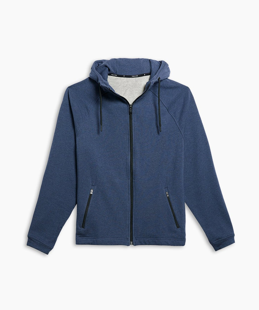 Weekend Full Zip | Men's Heather Navy