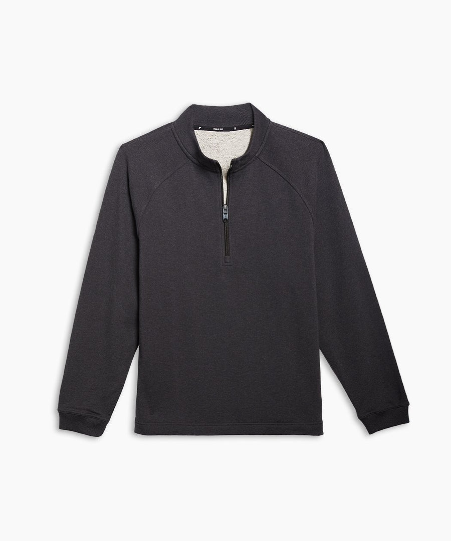 Weekend Half Zip | Men's Heather Charcoal