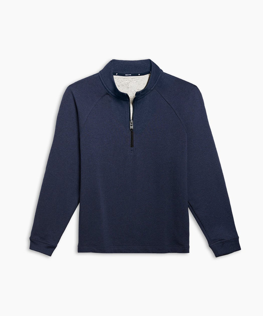 Weekend Half Zip | Men's Heather Navy