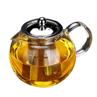 Glass teapot with stainless steel infuser - Maitea
