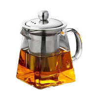 Single cup glass tea pot