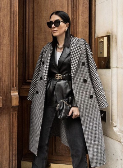 Best Houndstooth Coats & How to Style Them