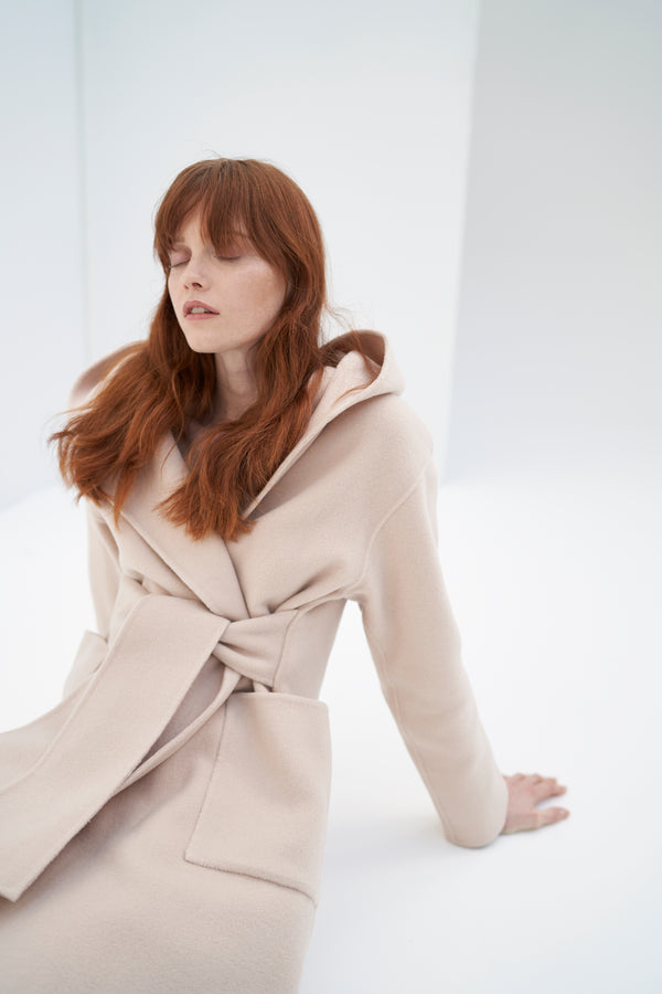 QUAINT ICONIC Lara Wool-Cashmere Coat - Nude