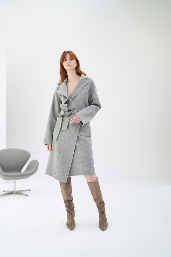 QUAINT ICONIC Wool-Cashmere Blaire Coat - Silver