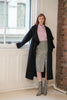 QUAINT FW 2020 BLAIRE Cashmere-Wool Blend Ruffle Coat - Black