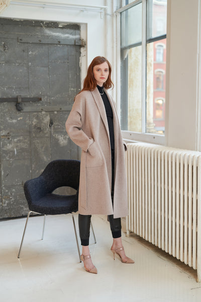 buy Cashmere & Wool Blend Robe Coat