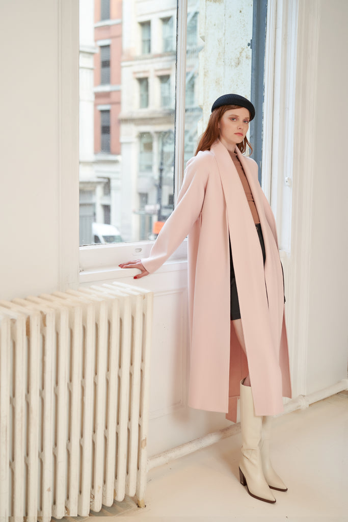 QUAINT ICONIC FAVIOLA Scarf Coat - Sakura