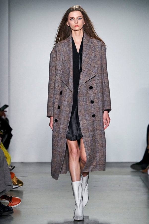 2019 AW Runway Maureen Checker Coat