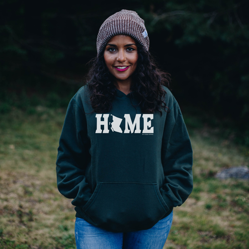 forest green british columbia classic home hoodie