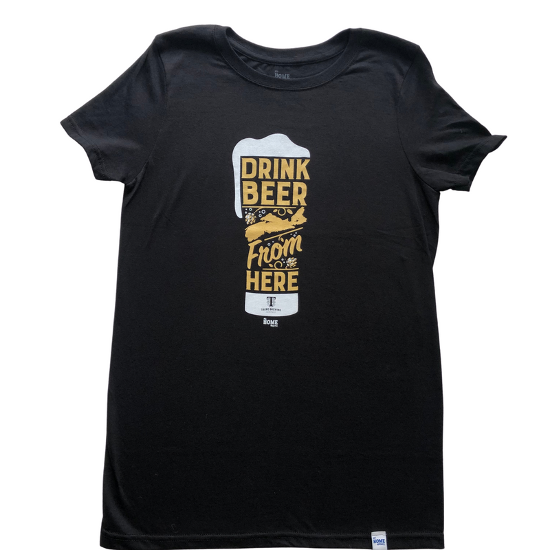 drink beer from here tshirt