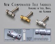 RS Compensated Tele Saddles - Aluminum