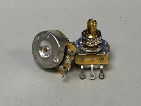 CTS 250K Audio Taper Potentiometer - Split Shaft