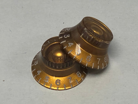 New Gold 50s Top Hat Knob - Pair
