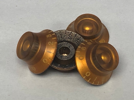 Aged Gold 50s Top Hat Knobs