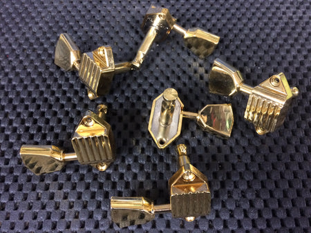 New Kluson Waffle Back Tuners - Metal Button