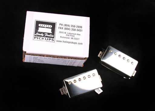 RS/Fralin Big Block Raw Nickel Cover Humbucker Set