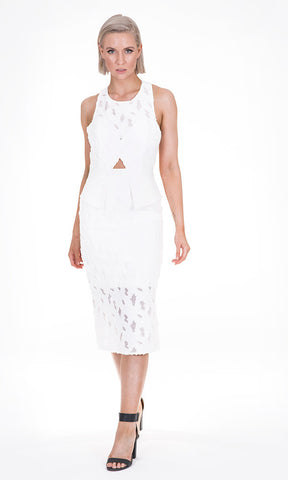 White Suede - Overlay Dress RRP $599