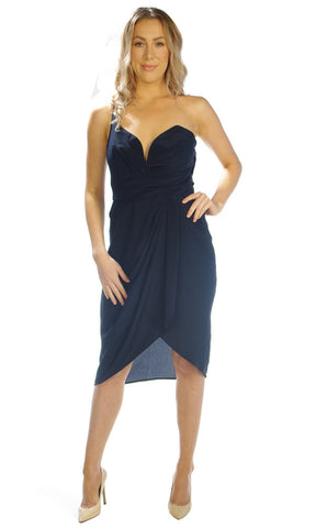 Zimmermann One shoulder french navy RRP $450