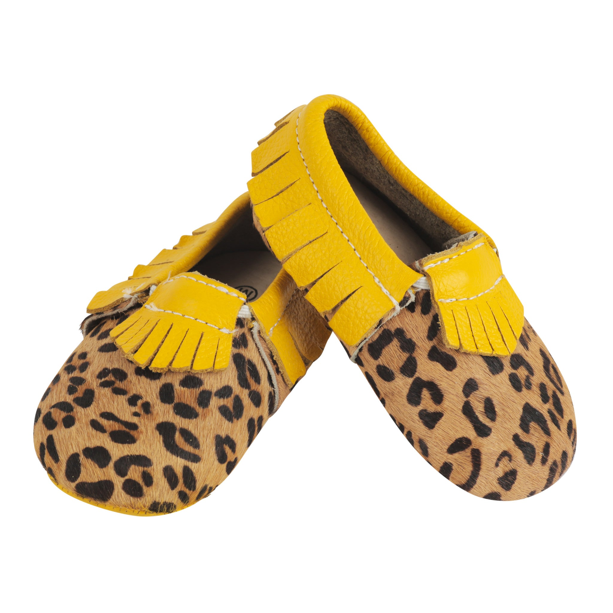 Moccasin, Pre-Walker Baby & Toddler Shoes - Yellow Cheetah