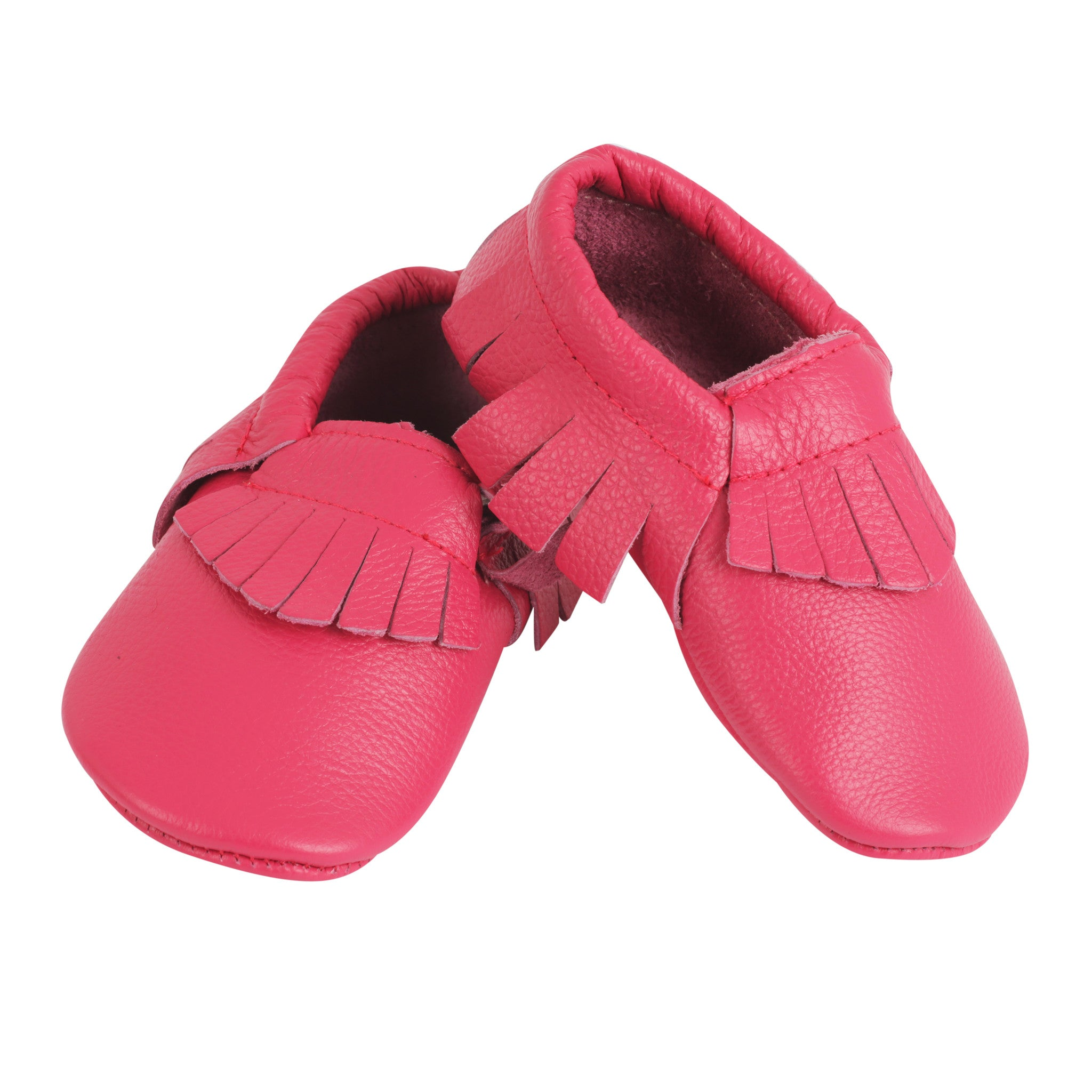 Moccasin, Pre-Walker Baby & Toddler Shoes - Lipstick Pink