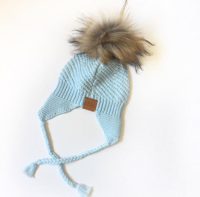 Baby Blue Beanie, 100% Cotton, Australian Made, Boutique