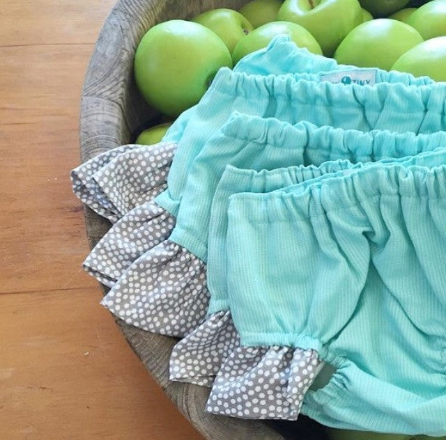Boutique Newborn Baby Bloomers with Ruffle, 100% Cotton, Handmade in Australia, Sydney Mum