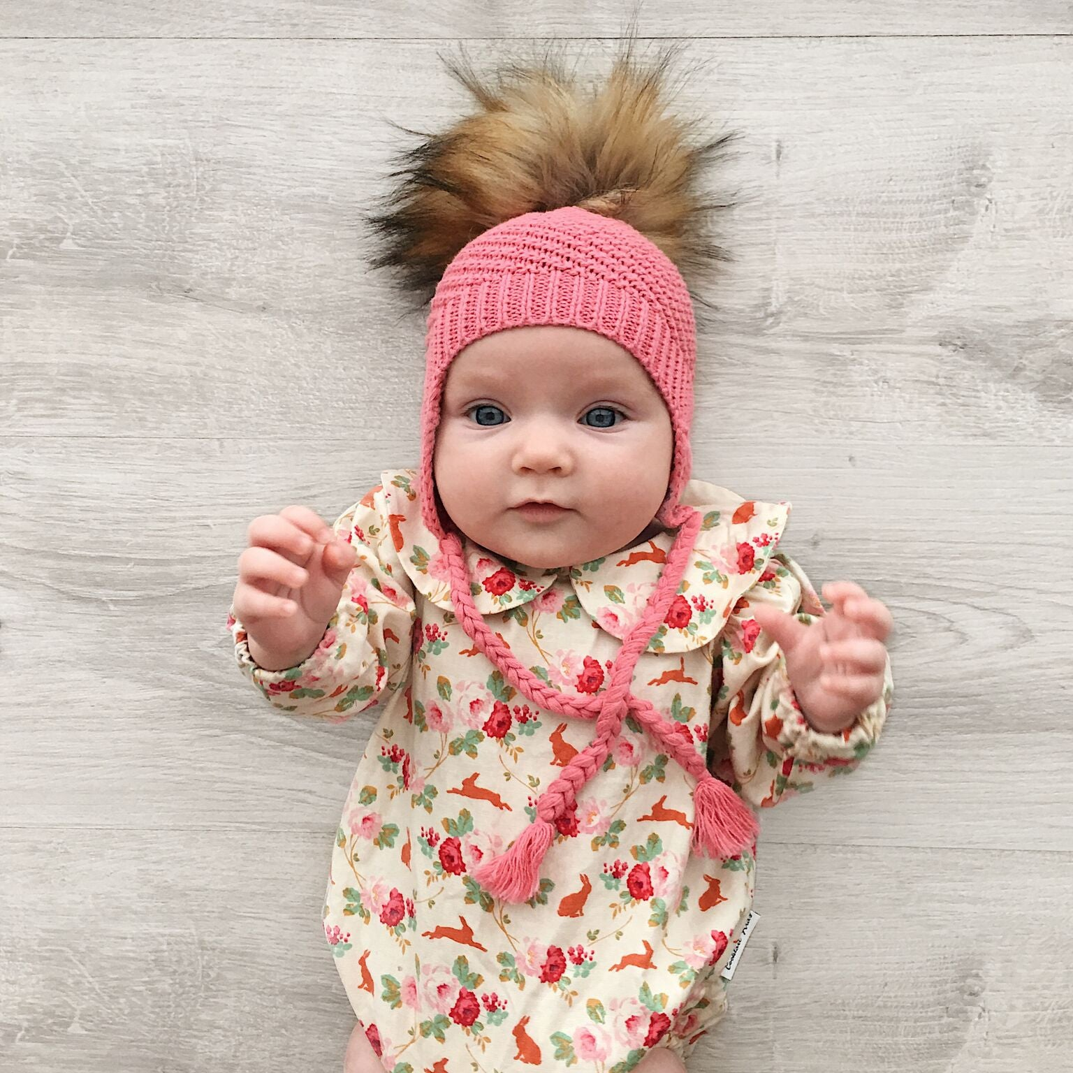 Baby, Toddler & Adult Knit Beanie - Deep Pink
