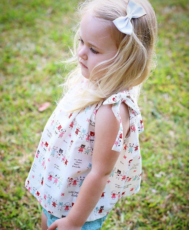 Boutique Handmade Swing Top and bloomer set for Baby Girls to Toddlers, 100% Cotton, Handmade in Australia