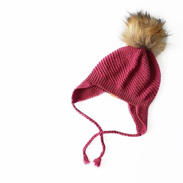 Baby, Toddler & Adult Knit Beanie - Plum