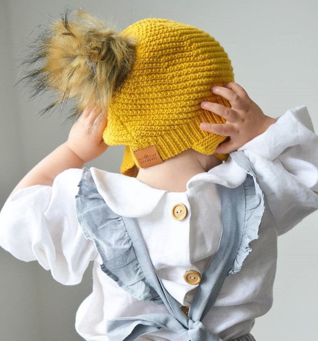 Mustard Knit Beanie, Unisex, 100% Cotton, Limited Edition, Made in Australia
