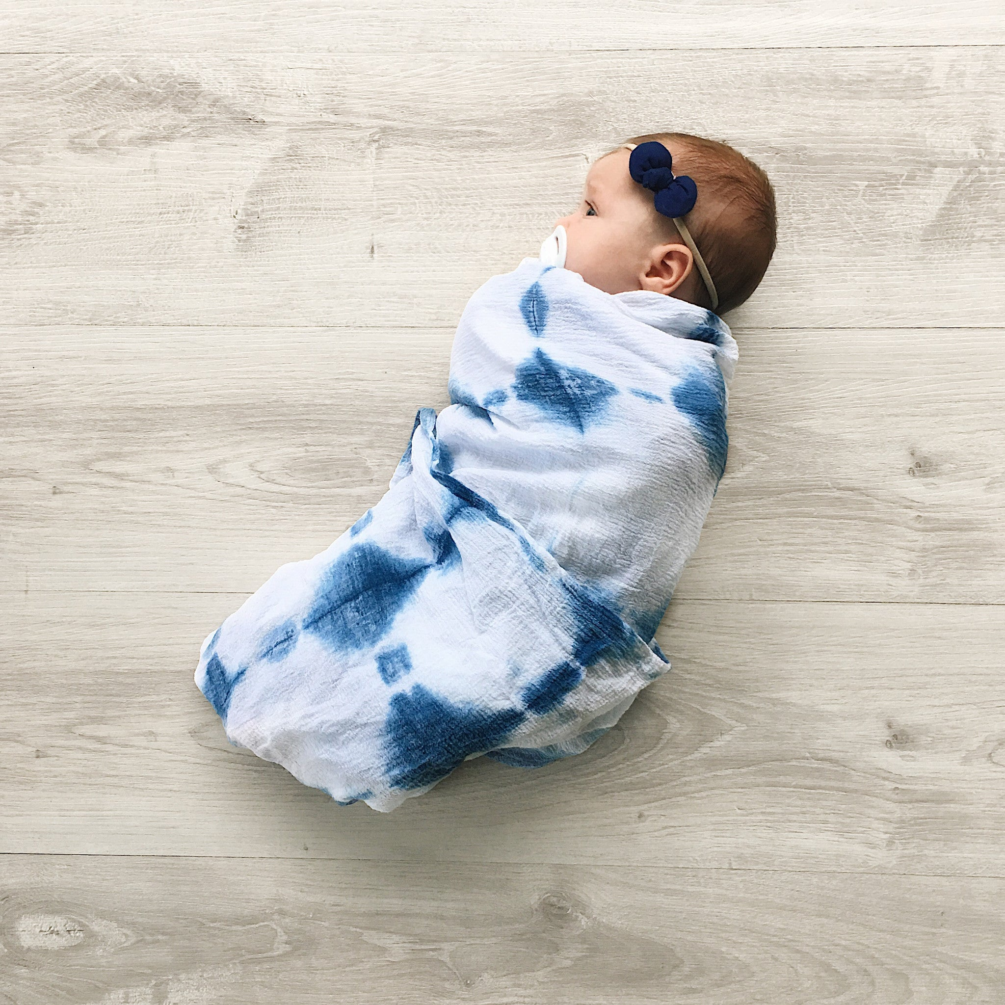 'Indigo' Swaddle - Navy Blue