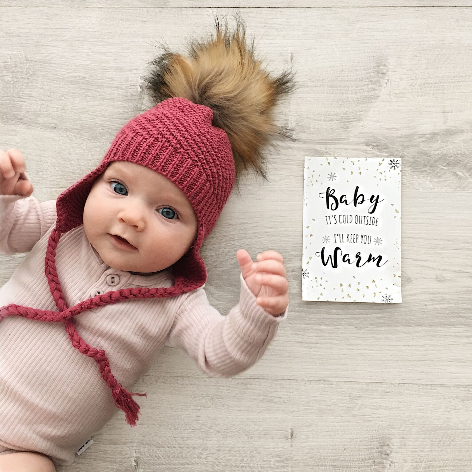 Baby, Toddler & Adult Knit Pom Pom Beanie - Plum in Colour, 100% Australian, Boutique Store