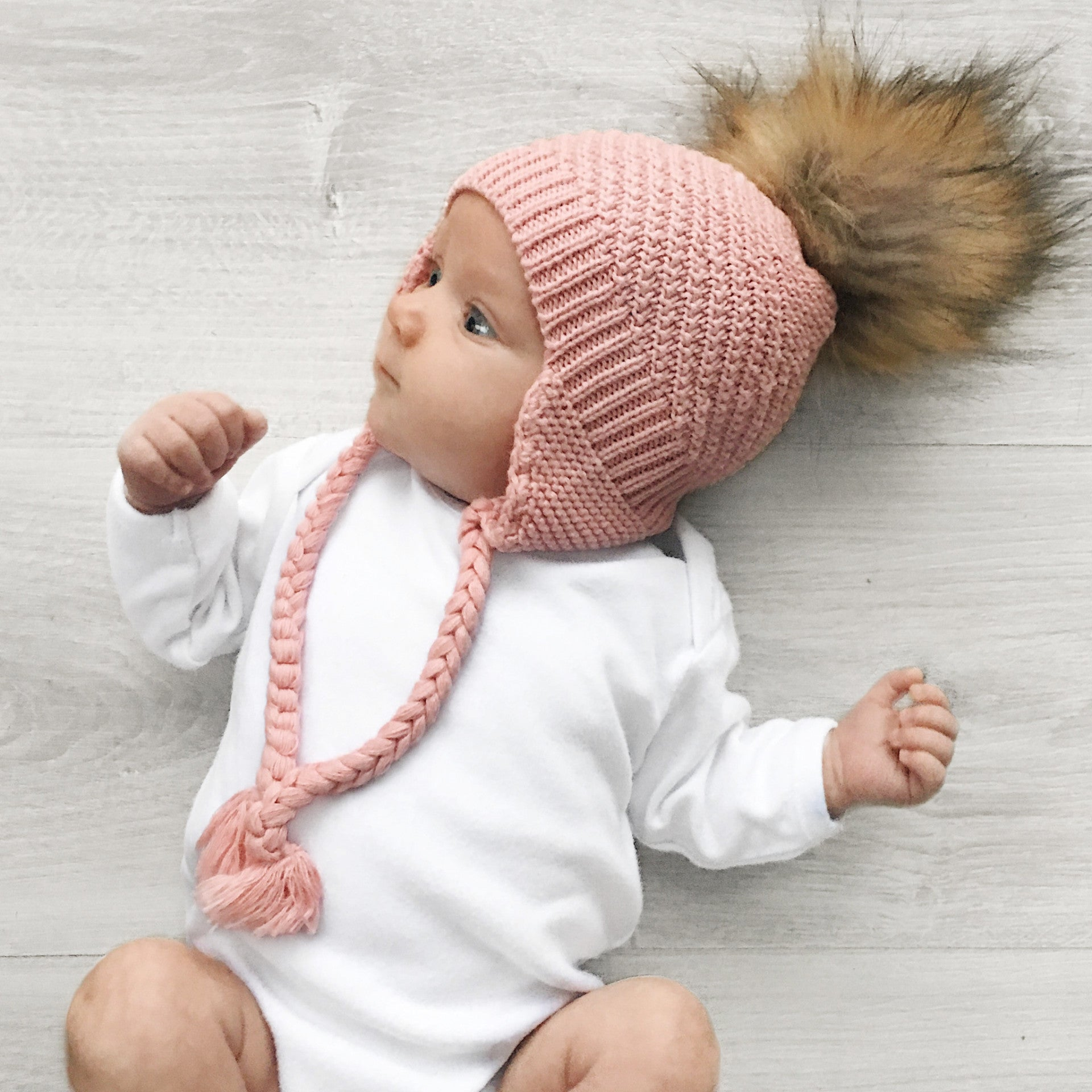 Newborn Pink Beanie - Made In Australia