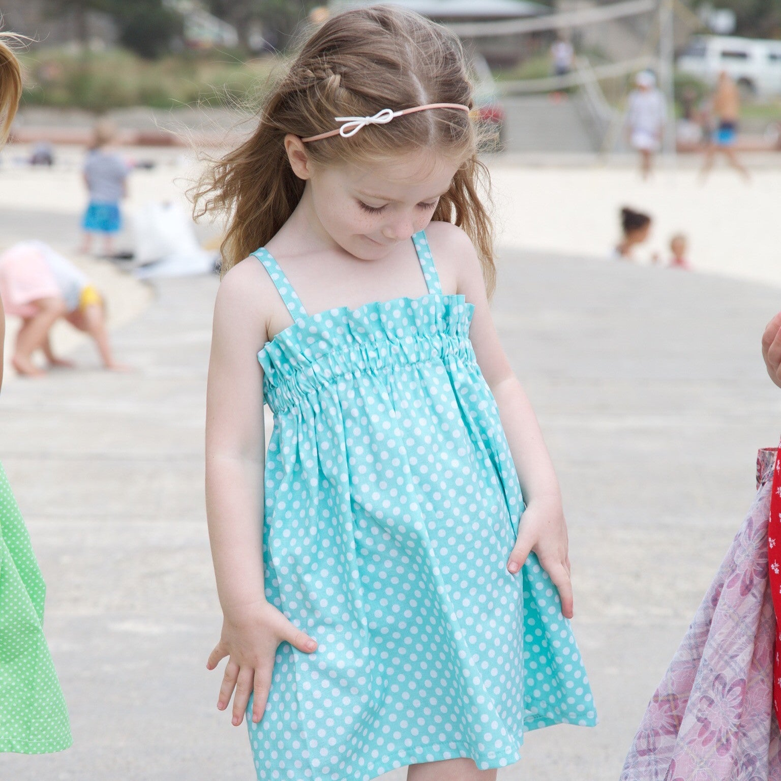 Aqua Toddler Dress