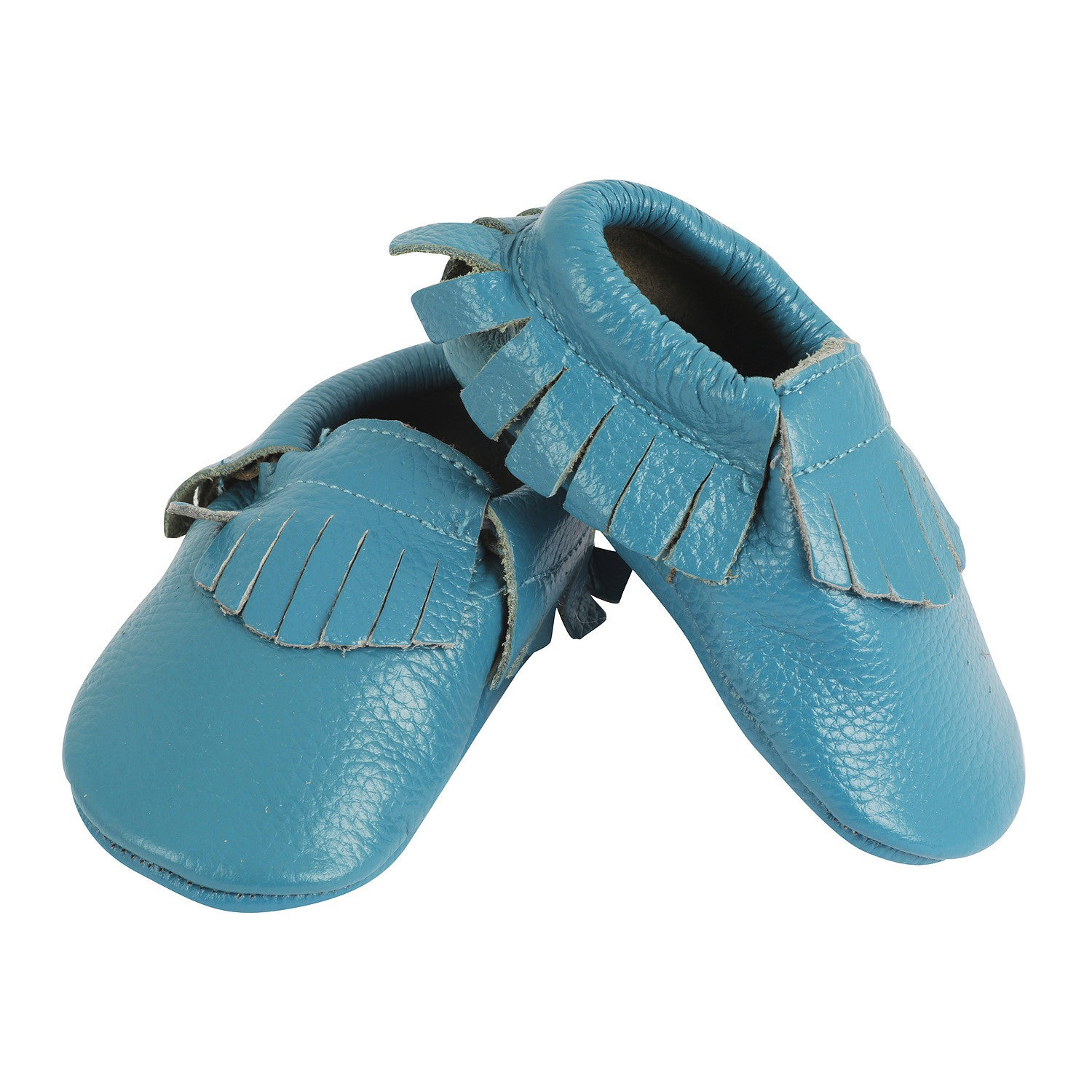 Baby Boy Pre Walker Moccasins – Smurf Blue Baby Shoes My Tiny