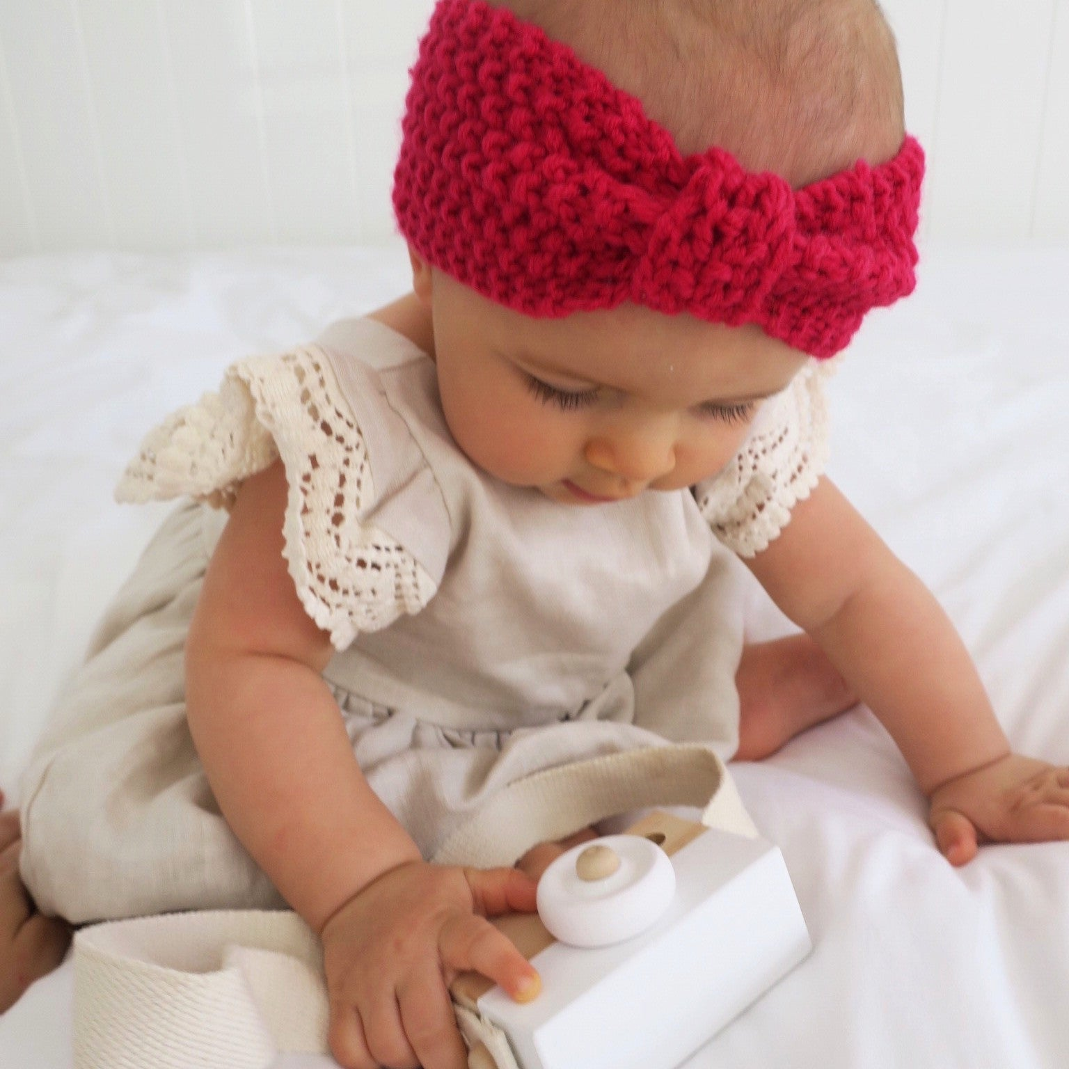 Knitted Top Knot - Beautiful in Berrylicious