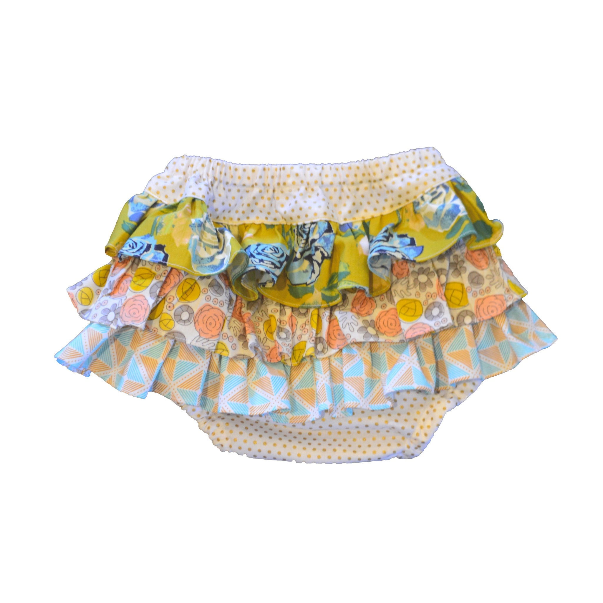 Designer Baby Girls Ruffle Bloomers, 100% Cotton, Handmade - Limited Edition